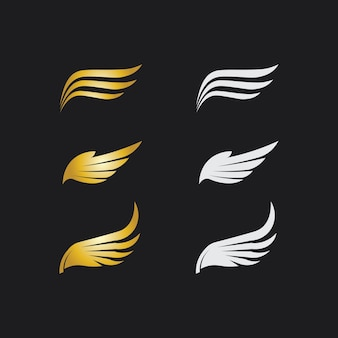 Falcon, adelaar logo en vleugels sjabloon vector illustratie ontwerp pictogram