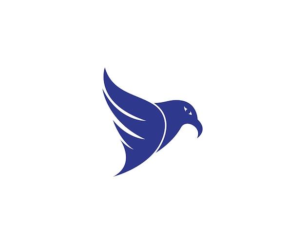 Falcon adelaar vogel logo sjabloon