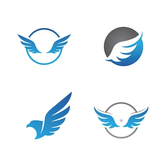 Falcon wing logo vector pictogram ontwerpsjabloon