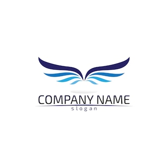 Falcon wings logo template pictogram logo ontwerp app