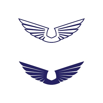 Falcon wings logo template pictogram logo ontwerp app