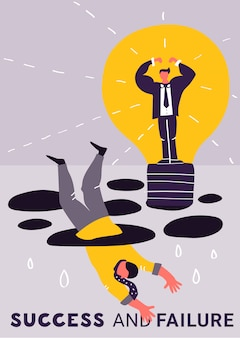 Falen en succes in zaken