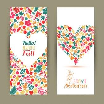 Fall set banners van de herfst seizoen