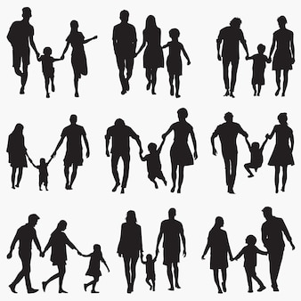 Familie 1 silhouetten