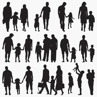 Familie 2 silhouetten