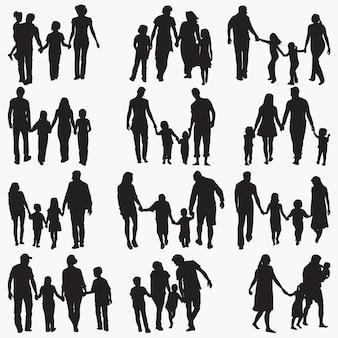 Familie 4 silhouetten