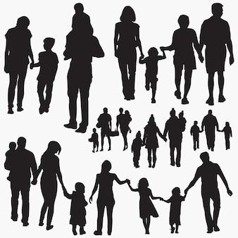 Familie 5 silhouetten