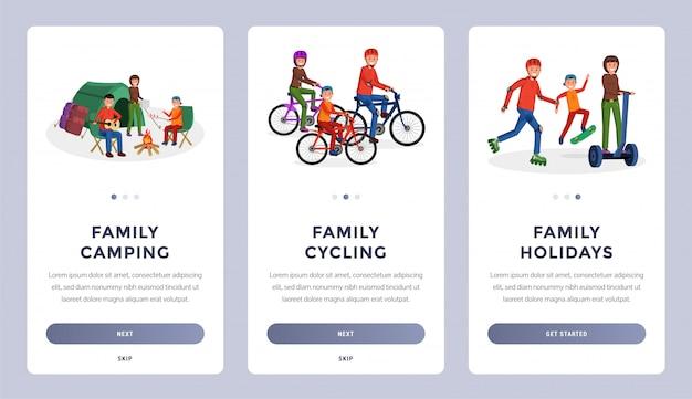 Familie-activiteiten flat set