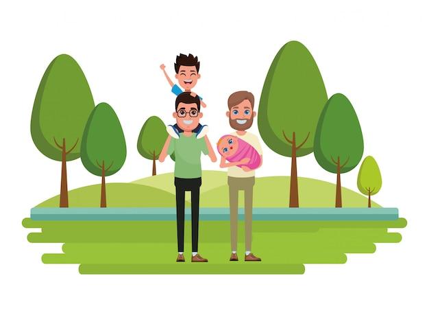 Familie avatar cartoon karakter portret