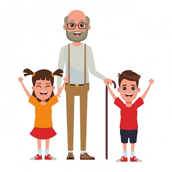 Familie avatar cartoon karakter portret