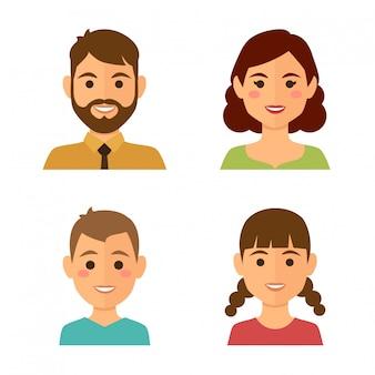 Familie avatars