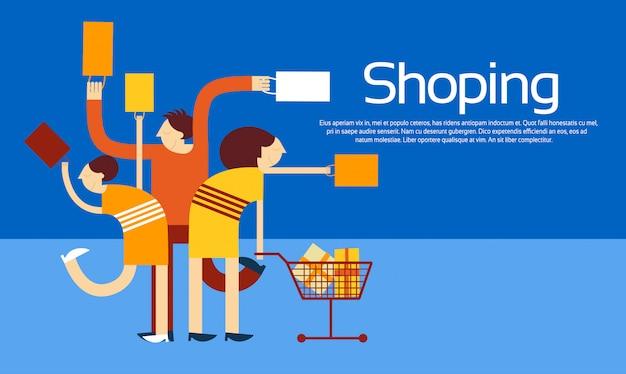 Familie boodschappentassen trolley sale korting