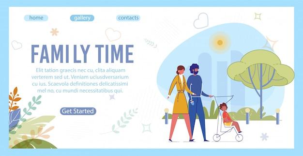 Familie brengt actief tijd samen door, lopend.