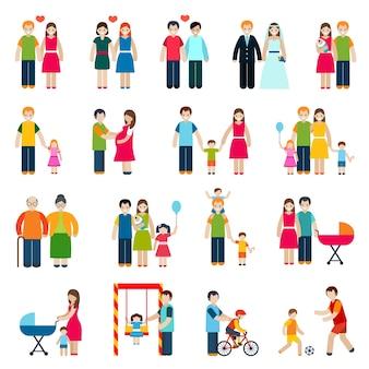Familie cijfers pictogrammen