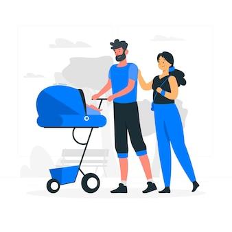 Familie concept illustratie