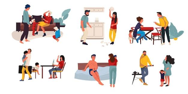 Familie conflict illustratie