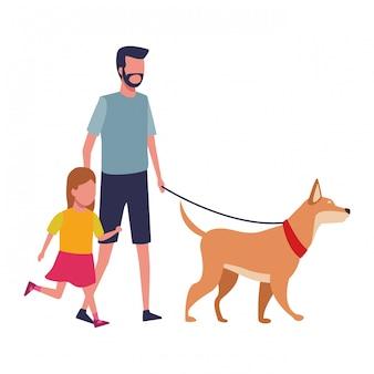 Familie en kinderen cartoon