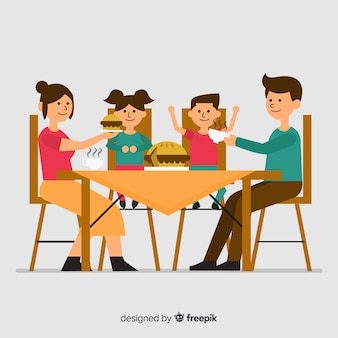 Familie eten