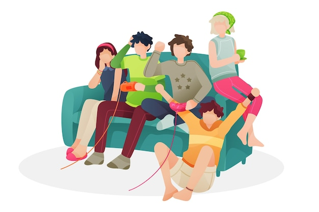 Familie genieten van tijd samen