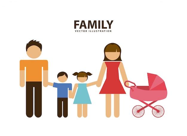 Familie grafisch ontwerp vectorillustratie