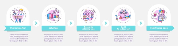 Familie hechtingstips infographic sjabloon