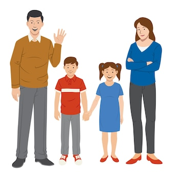 Familie karakters ingesteld