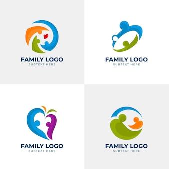 Familie logo collectie concept