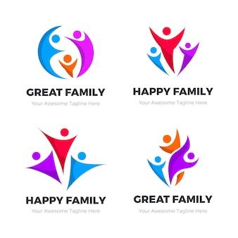 Familie logo collectie