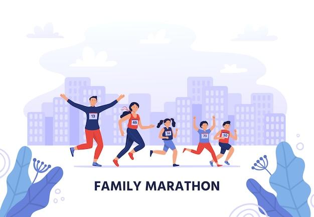 Familie marathon
