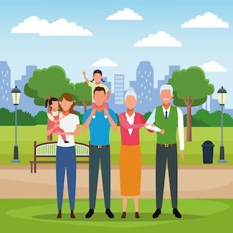 Familie mensen cartoon