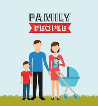 Familie mensen ontwerpen
