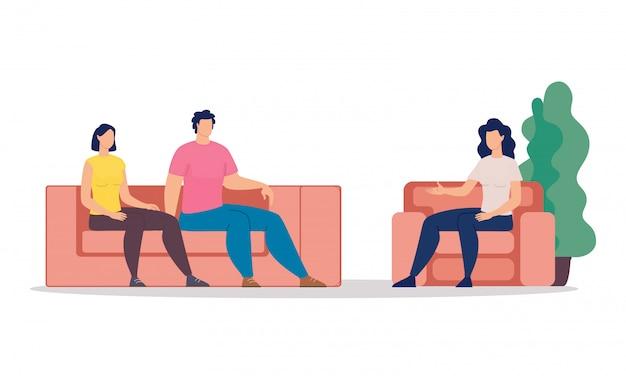 Familie psychologische therapie plat