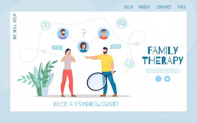 Familie psychologische therapie platte webpagina
