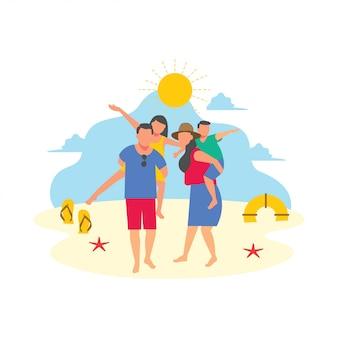 Familie reis vakantie vakantie