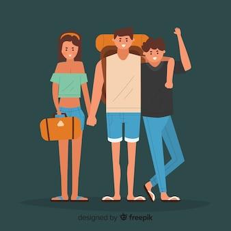 Familie reizende achtergrond