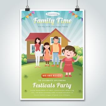 Familie samen viering posterontwerp