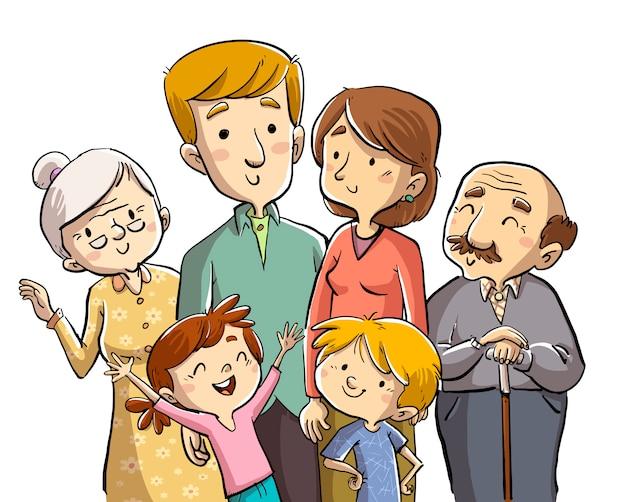Familie samen
