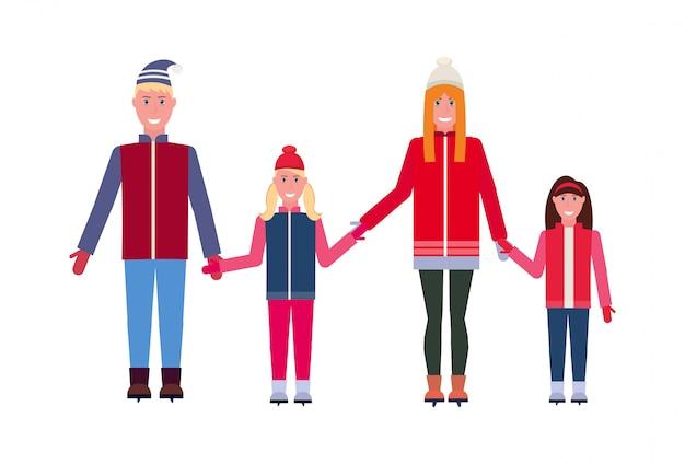 Familie schaatsen