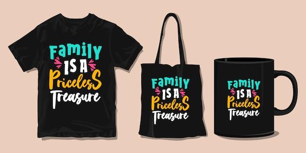 Familie t-shirt typografie citaten. koopwaar voor print