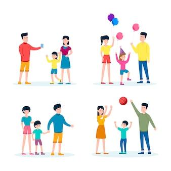 Familie tijd samen doorbrengen