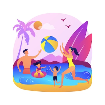Familie vakantie illustratie