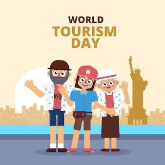 Familie vakantie op wereldtoerismedag