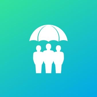 Familie verzekering pictogram, vector kunst