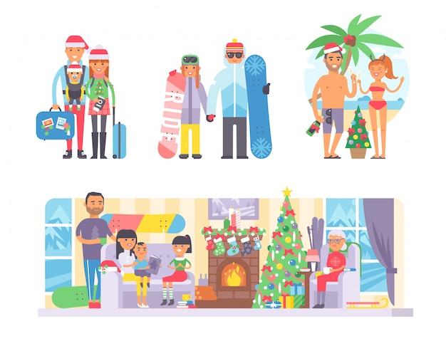 Familie winter kerstvakantie