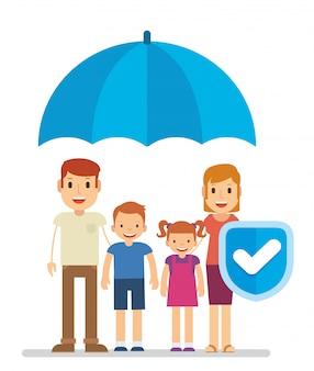 Familiebescherming met verzekering om de toekomst te verzekeren