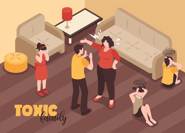 Familieconflicten achtergrond met giftige relaties