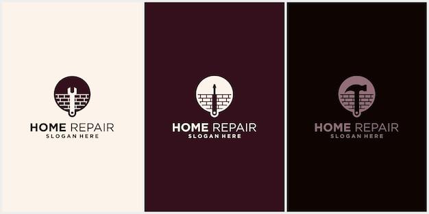 Familiehuis renovatie logo sjabloonontwerp luxe onroerend goed huisverbetering bedrijfslogo