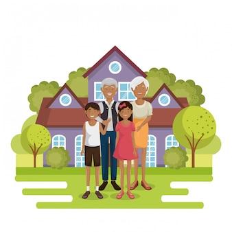 Familieleden buiten het huis
