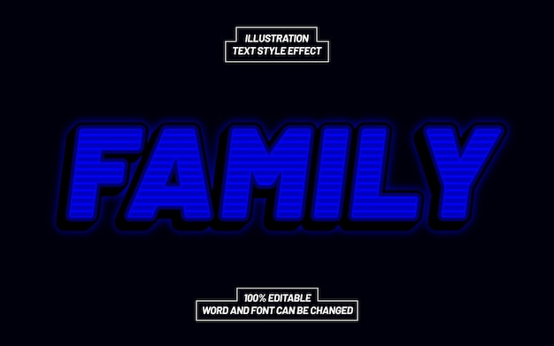 Family bold text style effect