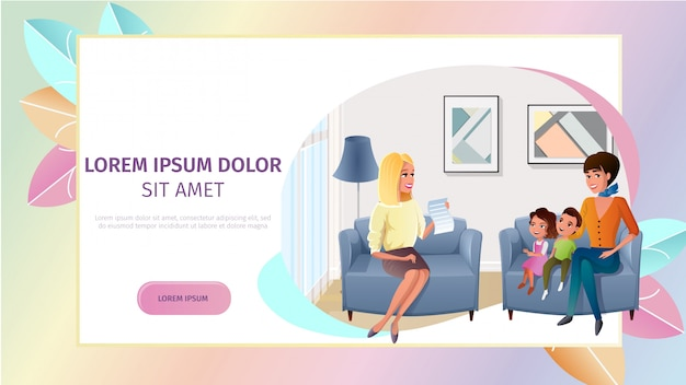 Family psychologist online consultation vector